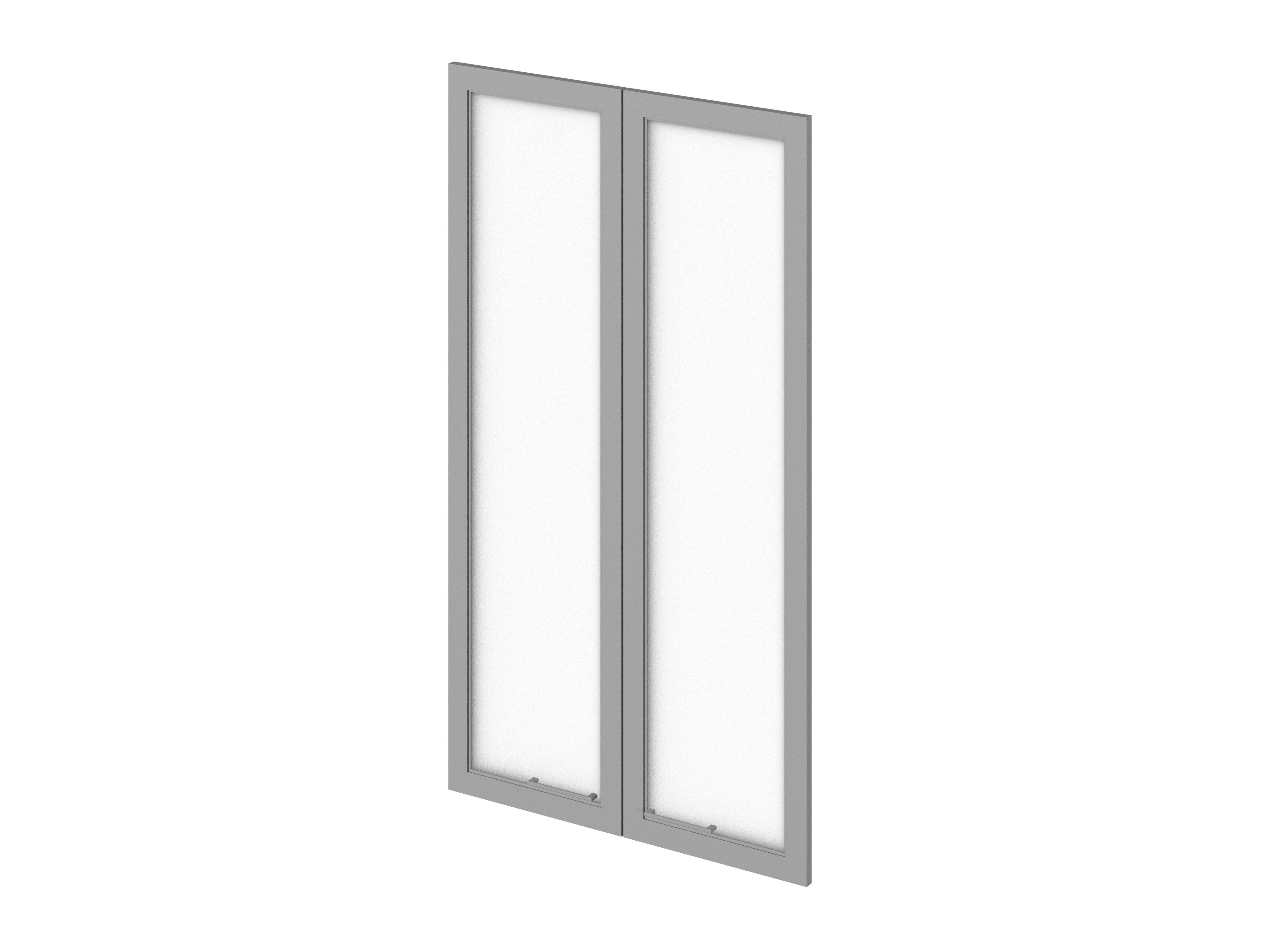 Двери средние стеклянные в профиле МДФ Р-023