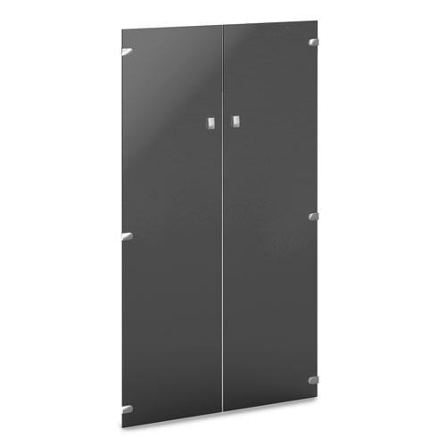 Двери средние стеклянные  V-022