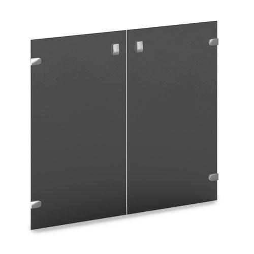 Двери низкие стеклянные  V-012